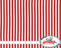 RED & WHITE STRIPE Fabric by the Yard, Fat Quarter Red Fabric Red Mini Small Stripe Apparel Fabric Quilting Fabric 100% Cotton Fabric w5-4