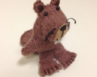 Mini Stuffed Beaver PDF Sewing Pattern - Miniature Beaver