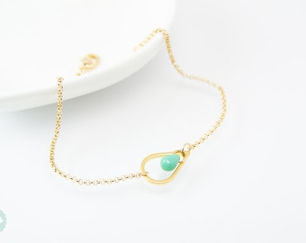 Teardrop bracelet, daity bracelet, gold bracelet, teardrop, bracelet, gold chain bracelet, cute bracelet, friendship bracelet, gold chain