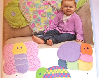 Baby Animal-Shaped QUILTS Simplicity Pattern #1822 CUTE Crafts Pattern for Baby/Shower Gift New & Uncut Factory Folds