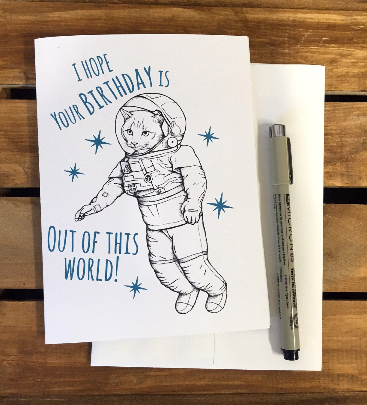 Space Cat Birthday Card Funny Birthday Card Boyfriend – Really Cool Birthday Cards