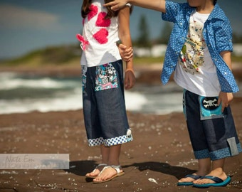Weekend boys and girls pants pattern - PDF pattern