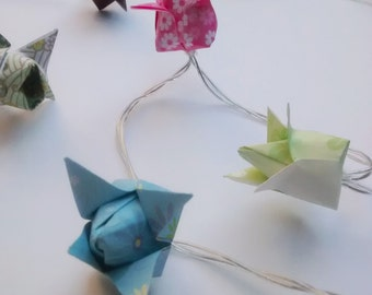 Origami Flowers Fairy Lights