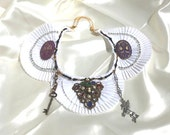 Statement Collar, Jeweled Bib, Cosplay, Medieval Collar, Renaissance, Goth Necklace, Bejeweled Bib -  by FairyLace Designs