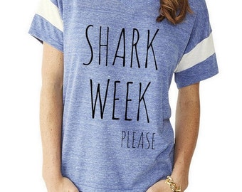 SHARK WEEK Please Slouchy Gym Tee