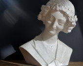 Beautiful plaster sculpture of St. Rémi vintage French 1930s