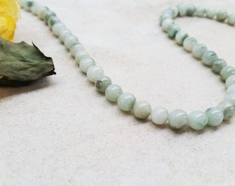 """Jade Smooth Round Beads Approx. 7mm, 15.5""""L"""