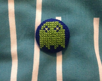 Green Ghost Pacman Button