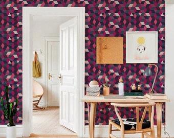 Purple self-adhesive modern vinyl Wallpaper wall sticker - pattern decal  C052