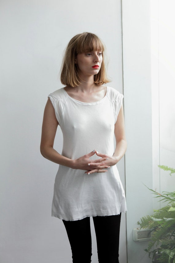 Items similar to sale 50 off womens white blouse fitted for Shirts with see through backs