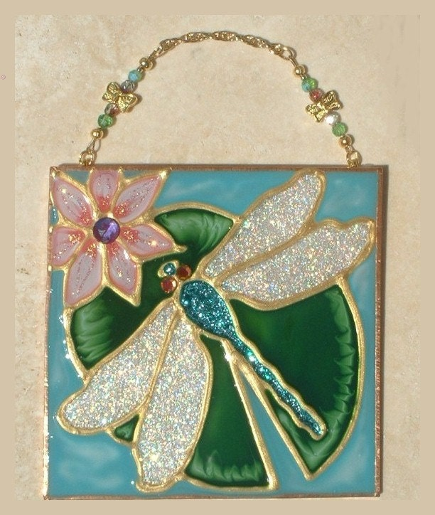 Dragonfly decor wall hanging dragonfly wall art suncatcher for Dragonfly wall art