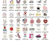 Choose any 3 Floating Charms for Memory Lockets, Floating Charm Lockets