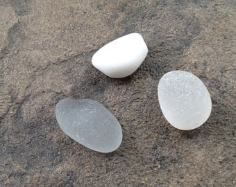 Lake Erie Beach Glass 3 Large Pieces