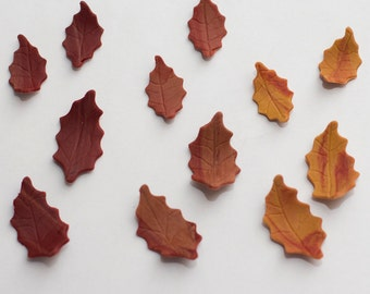 Tiny fondant Fall leaves (Set of 60) - Ready to ship in 1-2 weeks