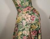 FREE  SHIPPING  1940 Cotton Halter Dress