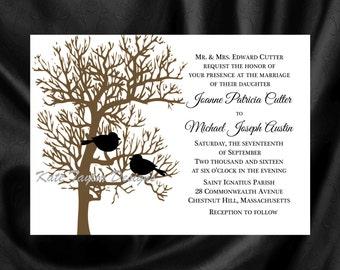 Tree  Bird Invitation & RSVP  Tree Wedding Invitation  Tree-Bird Wedding Invitation  Love Bird Invitation - Tree Design 20