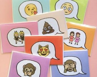 CUSTOM EMOJI CARD!!! (Turn your favorite emoji into a hand-drawn card!)