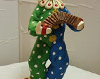 Clown Playing Squeeze Box