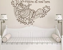 einzigartige artikel zum thema cheshire cat quote etsy. Black Bedroom Furniture Sets. Home Design Ideas
