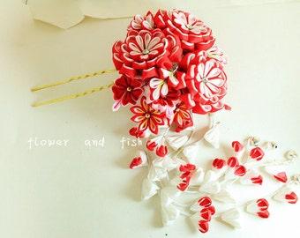 kimono accessories -Wedding,Accessories, Bridal,Hair Pins, Bridal Hair fork, Bridal Hair Flower, Bridal Hair stick, Bridal Hairpiece-B15