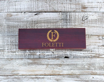 Custom Engraved Wine Box 4 piece Set, Rosewood Wine Box, Personalized Gifts, Engraved Case Wine tools, Engraved Gifts --7006