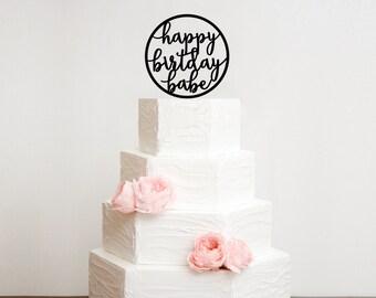 Happy Birthday Babe Birthday Cake Topper
