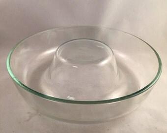 Vintage Extra Large Pyrex Glass Jello Ring Mold, Bundt Pan