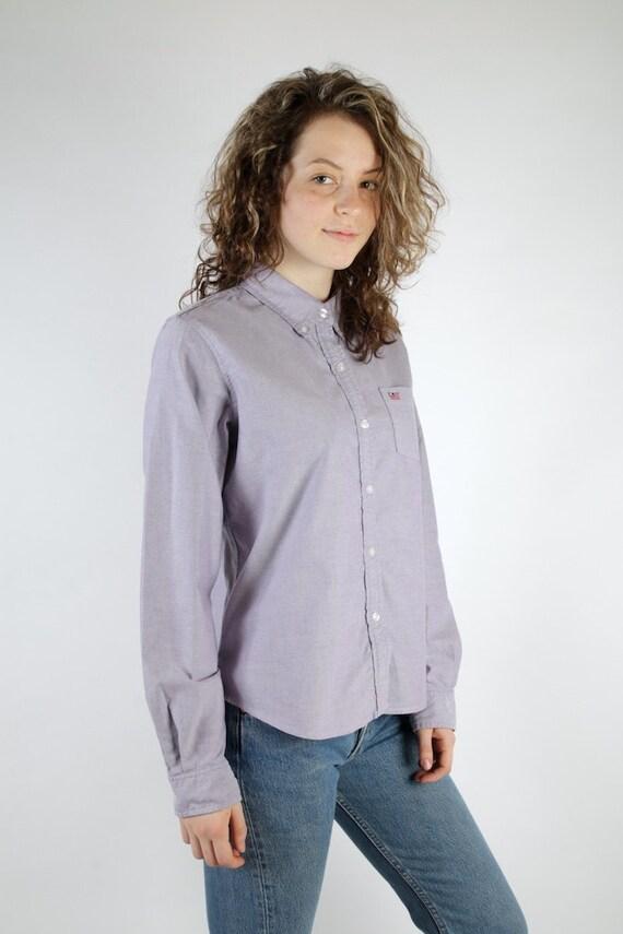 Ralph lauren womens shirt light purple polo jeans shirt long for Long sleeve purple polo shirt