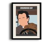 Groundhog Day minimalist poster, Bill Murray digital art poster