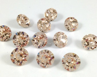 1088 ss39 SILK 12 pieces Swarovski Crystal XIRIUS Chaton Pointed Back Round Stone
