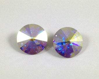 16mm CRYSTAL AB 1122 Swarovski Crystal Rivoli, 4 pieces or 20 pieces
