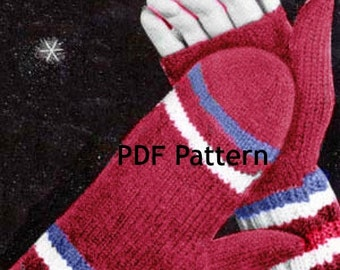 Women's Open Finger Mittens, Fingerless Gloves, Vintage 1953 Knit Pattern, Digital Download, Instant PDF