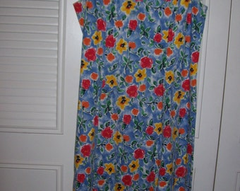 Vintage  Land's End Floral Maxi Dress 10 - 12 What a find. Perfect summer here
