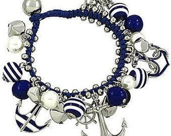 Anchor and Helm Bracelet