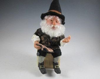 """Woodland Elf  """"Tyler the Storyteller"""" Fantasy Art Doll"""