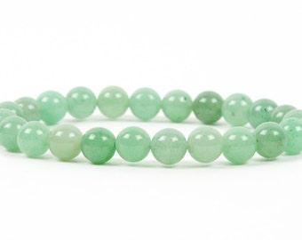 Aventurine Bracelet, Heart Chakra Bracelet, Healing gemstone