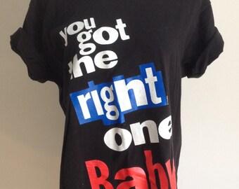 Vintage 1990s Diet Pepsi Slogan Tshirt / Unisex Tshirt / Black Tshirt Size Large L
