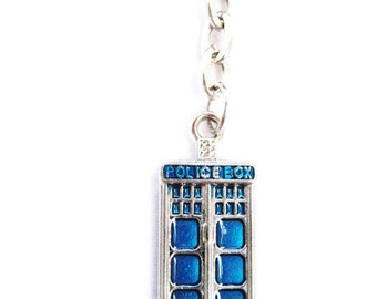 Tardis Keychain Doctor Who  Keychain Police Box Keychain   Whovian Keychain Whovian Keychain