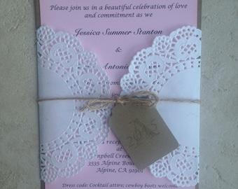 Shabby Chic Wedding Invitation