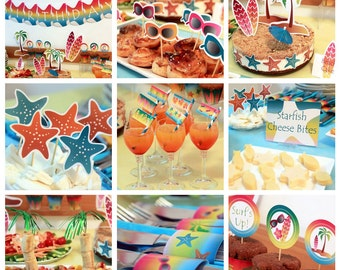 Beach Party - Summer Party - Beach Birthday - Surf Party - Beach Downloads - Summer Decorations - Summer Birthday (Instant Download)