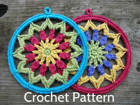 Items Similar To Pdf Crochet Pattern Quot Evelyn S Mandala Quot 6