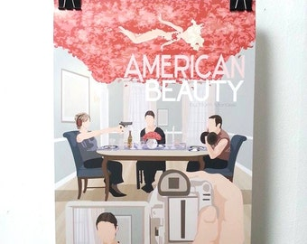 American Beauty Movie Poster - Print Sam Mendes A3