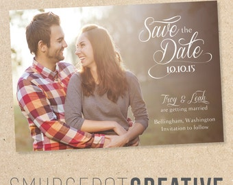 Traditional Save the Date - Customizable - Card or Magnet - Digital File for DIY Printing
