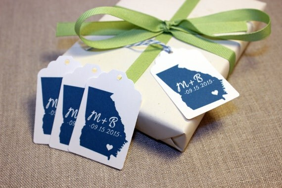 Destination Wedding Gift Tags : Map State Tag, Destination Wedding Favor Tag, Wedding Gift Tag, Bridal ...