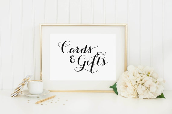 Wedding Gift Card Box Sign : Cards and Gifts SignWedding Reception Signage, Wedding Signs ...