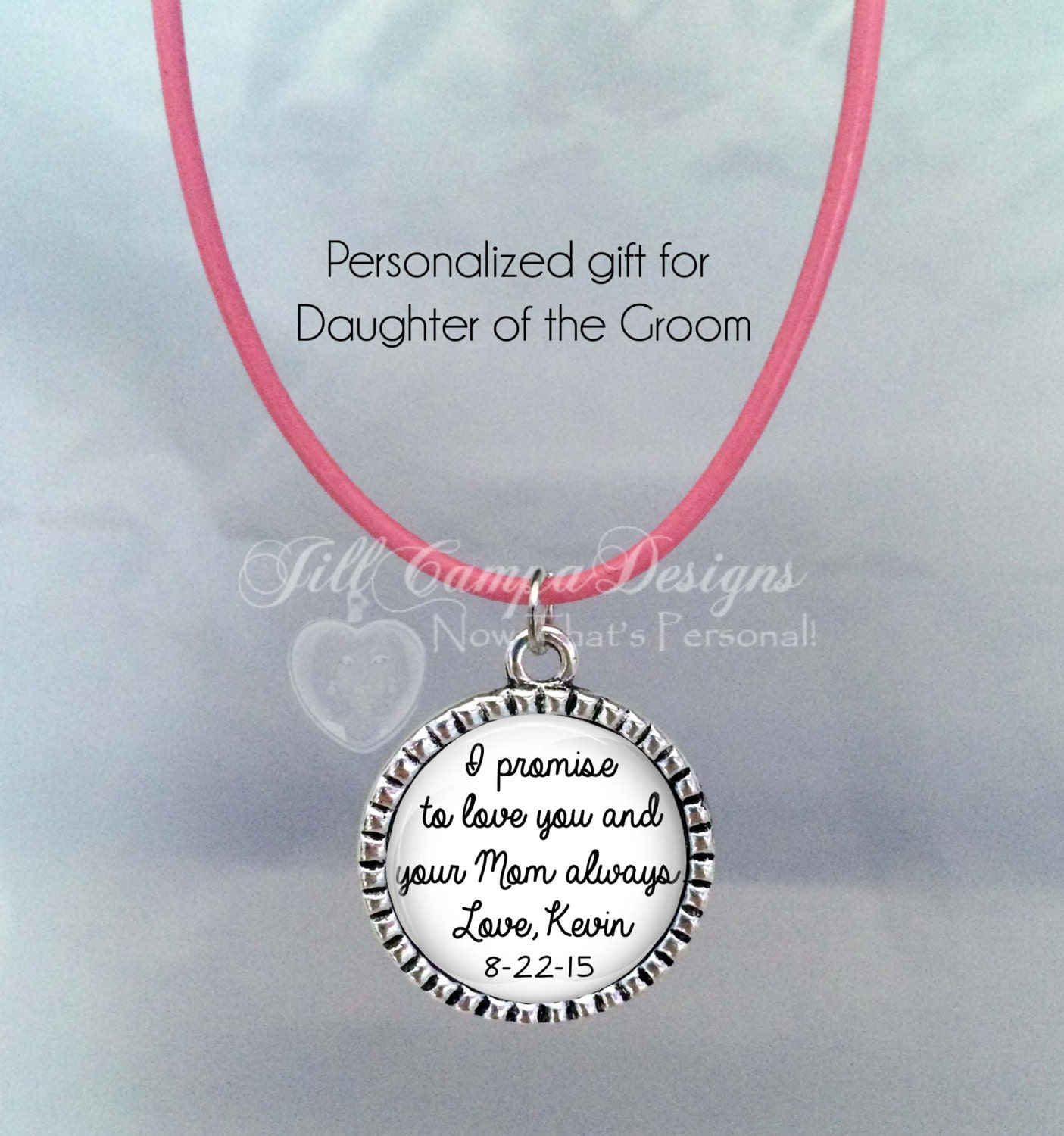 Wedding Gift For Mom And Stepdad : Daughter of the Bride gift from Groom I Promise to