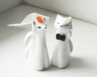 Wedding Cake Topper, Fox Cake Topper, Love Fox