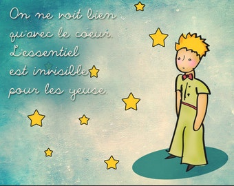 Items similar to rose photograph the little prince quote for Piccolo in francese