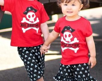 Brother Sister Sibling Pirate Shirts