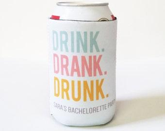 Bachelorette 12oz Can Sleeve Insulator - Drink Drank Drunk